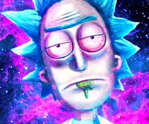 blue, rick and morty, and cartoons image