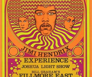 jimi hendrix experience, psychedelic poster, and in new york image