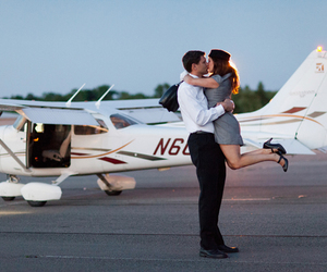 airplane, boy, and couple image
