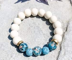 beaded bracelets, blue bracelet, and essential oil diffuser image
