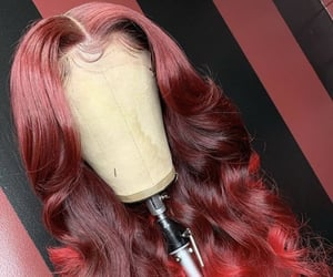 curls, lace front wig, and bomb image
