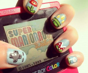 nails, game, and girly image