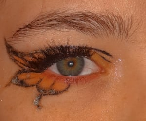 butterfly, eye makeup, and eyebrows image