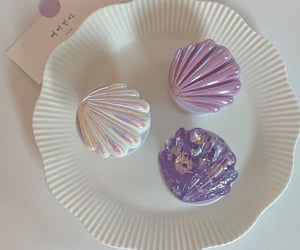 aesthetic, purple, and shell image