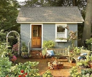 garden, flowers, and home image