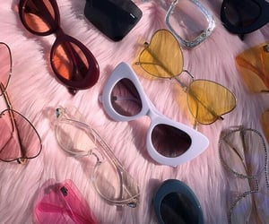 sunglasses, pink, and aesthetic image