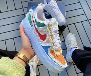 color, nike sneakers, and nike shoes image