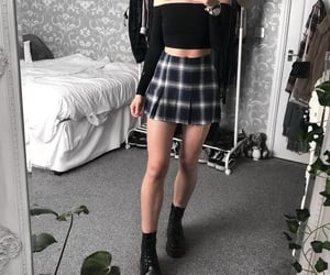 alternative, pleats, and pleated skirt image