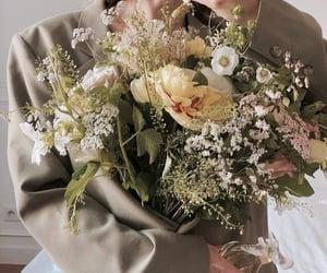 blazer, bouquet, and fashion image