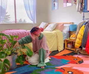 aesthetic, room, and girl image