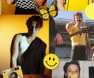 yellow, five seconds of summer, and ashton irwin image