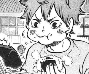 hinata, manga, and monochrome image
