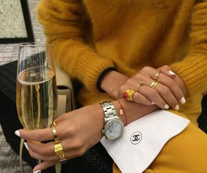 fashion, champagne, and style image