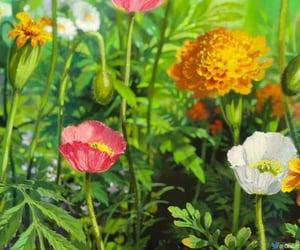 flowers, art, and ghibli image