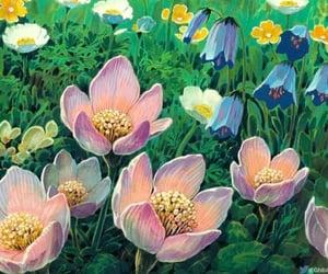 art, flowers, and ghibli image