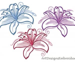 embroidery, diy embroidery, and embroidery flowers image