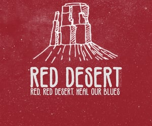 red desert and 5sos image