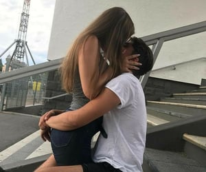 couple, kiss, and beijo image
