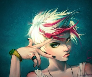 girl, punk, and art image