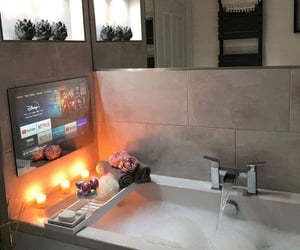 bath, relax, and netflix image