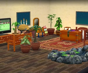 animal crossing, cabin, and design image