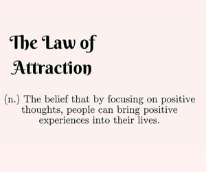 law of attraction, life, and lifestyle image