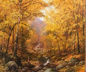 autumn, leaves, and painting image