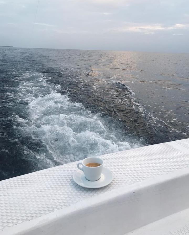 sea, beautiful, and coffee image