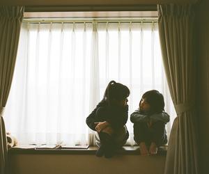 girls and window image