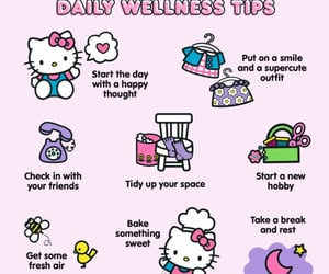 aesthetic, hello kitty, and mental health image