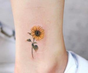 tattoo, sunflower, and cute image