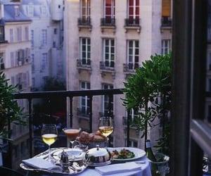 dinner, romantic, and balcony image