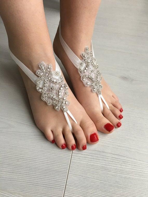 barefoot, bohemian, and bridesmaid image