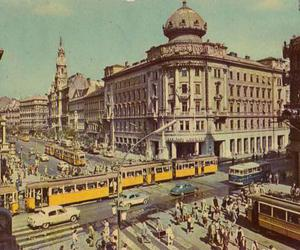 budapest, buildings, and cars image