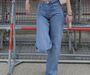 fashion, jeans, and mom jeans image