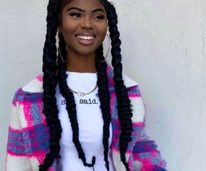 aesthetics, braids, and fashion image