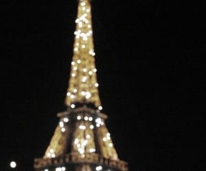 eiffel tower, france, and night image