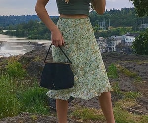 90s, midi skirt, and fashion image