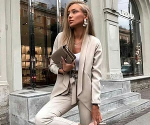 blazer, pants, and purse image