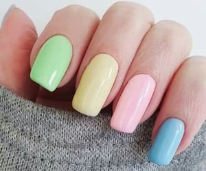 manicure, color nails, and nailpolish image