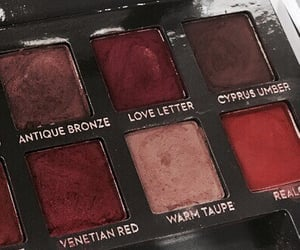 make-up, palette, and red image