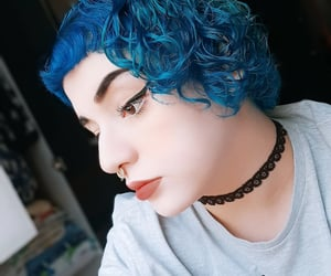 alternative, curly, and hair image