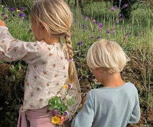 children, family, and gardening image