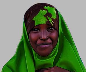 art, jilbab, and müslimah image