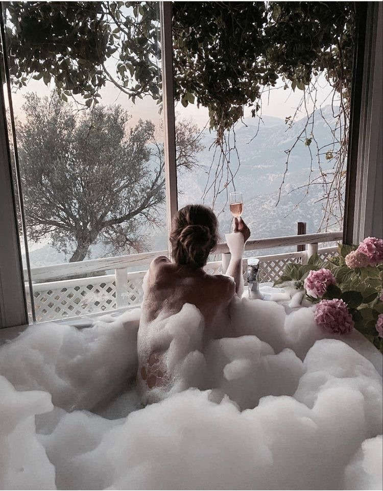 bubbles, floral, and flowers image