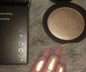 makeup, becca, and highlighter image