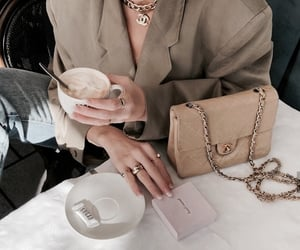 coffee, chanel, and fashion image