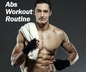 6 pack abs, abs workout, and abs workout routine image