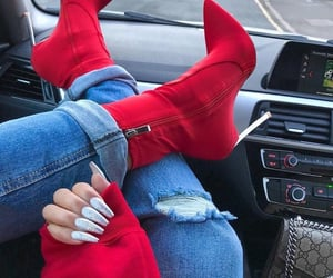 red, fashion, and nails image