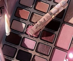 cosmetics, eyeshadow palette, and skin care image